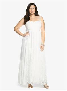 Lace & Gauze Maxi Dress