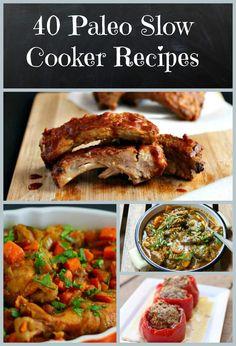 40 super easy and delicious Paleo Crockpot Recipes!!