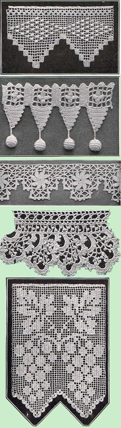 Heirloom Crochet - Vintage Patterns and Instructions - Crochet Edgings and…