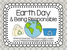 Earth Day Pin Board by The School Supply Addict