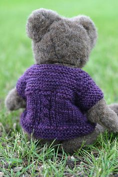 Ravelry: Brookline Cabled Doll Sweater pattern by Elizabeth Murphy