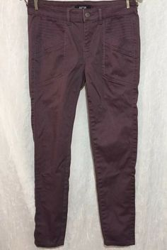 a3087856503 9 Size 4 Muted Purple Stretch Cotton Casual Chino Skinny Pants Inseam - 28   Apt9  CasualPants  Casual