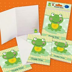 Baby Frog w//dots Personalized Note or Thank You Cards