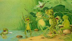 Bernhard Oberdieck  ILLUSTRATION dancing frogs