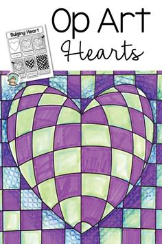 Art Lesson: Op Art Hearts - Fräulein Rossi - Art Lesson: Op Art Hearts Teach Op Art to kids with step by step instructions. Make op art hearts for Valentines Day and create a stunning display! Valentines Art For Kids, Valentines Day Drawing, Valentines Art Lessons, Op Art Lessons, Art Lessons Elementary, Art Projects For Adults, Toddler Art Projects, Art Club Projects, 4th Grade Art