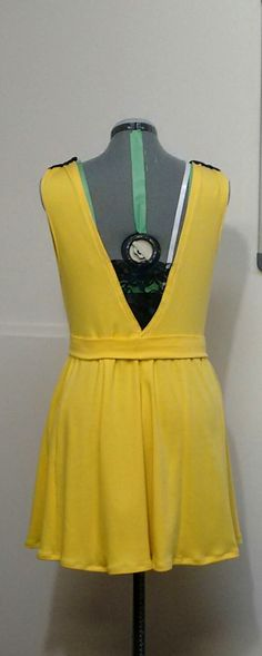 Custom designed Summer dress. Made with 100% stretch cotton. Lace on the shoulders and back. Front zipper.