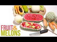 Miniature Melons Polymer Clay Tutorial - Cantaloupe, Honey Dew, Papaya, Watermelon