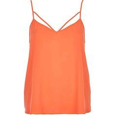 Orange strappy cami top £14.00
