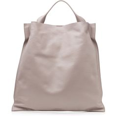 Jil Sander - Xiao Leather Tote (1,065 CAD) ❤ liked on Polyvore featuring bags, handbags, tote bags, mauve, totes, women, leather tote, leather tote bags, handbags & purses and handbags totes