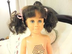 Chatty Cathy  Doll Brunette Pigtail  #Mattell #DollswithClothingAccessories