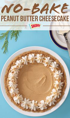 If your favorite kind of baking is to not do any baking at all, then this No-Bake SKIPPY® Peanut Butter Cheesecake recipe might be right for you. Skippy Peanut Butter, Peanut Butter Cheesecake, Cheesecake Recipes, Treat Yourself, Treats, Baking, Dinner, Desserts, Food