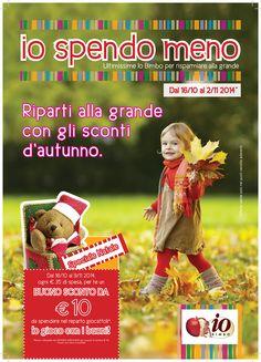 #iospendomeno Ottobre-Novembre 2014 in tutti gli stores Io Bimbo Sardegna
