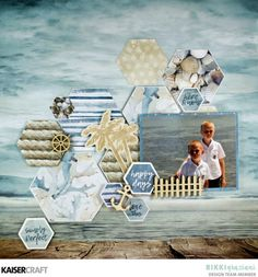 February Blog Challenge! - 'Here and Now' Layout by Rikki Graziani Design Team member for Kaisercraft Official Blog. Rikki has used Papers P2469 Sea Change and P2470 Boardwalk from the February 2018 'Beach Shack' Collection. Now let us see your interpretation of this months blog challenge! Learn more at kaisercraft.com.au - Wendy Schultz - Kaisercraft Projects.