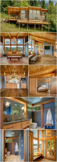 This Prefab Tiny House is Designed with Accessibility and Versatility in Mind - FabCab is a design company out of Seattle, Washington that specializes in designing tiny homes that are accessible for anyone of any age including the handicapped and elderly. Tiny House Cabin, Tiny House Living, Small House Plans, Tiny Home Floor Plans, Living Room, Micro House Plans, Two Bedroom Tiny House, Tiny Beach House, Beach Houses