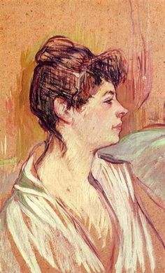 Portrait of Marcelle, 1894 by Henri de Toulouse-Lautrec. Post-Impressionism. portrait. Musee Toulouse Lautrec