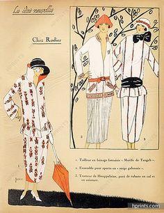 1923 RODIER ''Les Idees Nouvelles de la Mode'' Fashion Art Deco Pochoir