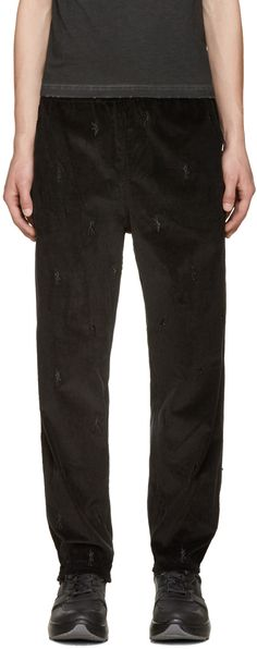 ALEXANDER WANG Black Corduroy Dancers Trousers. #alexanderwang #cloth #trousers