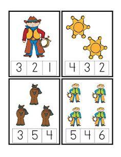 Preschool Printables: Cowboy