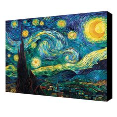 ArtWall Vincent Van Gogh 'Starry Night' Gallery-wrapped Art