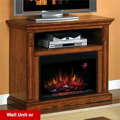 Fairmont 26 in. Cabinet Corner Electric Fireplace Media Console in Antique Oak - 26DE1247-O103