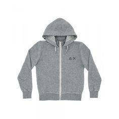 Boy's grey zipped fleece with hood SUN68 SS15 KIDS #SUN68 #SS15 #kids #boy #fleece