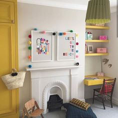 Highlight doors in Yellow Pink with contrasting neutral walls using a warm, soft shade like Joanna. Big Bedrooms, Girls Bedroom, Yellow Bedrooms, Bedroom Ideas, Yellow Doors, Yellow Walls, Yellow Kids Rooms, Pink Office, Little Greene