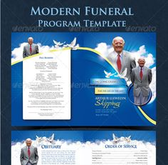 free funeral program templates | Category: Church , Flyers , Print Templates
