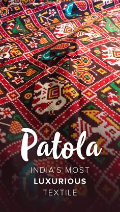 A look into the history of Patan Patola in Gujarat, India, and meeting one of the last families still weaving traditional Patola in the modern day. Indian Fabric, Indian Textiles, Handloom Saree, Silk Sarees, Textile Fabrics, Textile Patterns, Textile Art, Indian Designer Wear, Indian Sarees