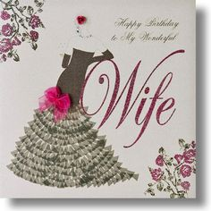 Happy Birthday Card For Wife