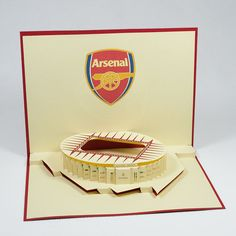 Arsenal Pop Up Handmade Station Card 3d Cards, Pop Up Cards, Gifts For Friends, Gifts For Him, Wholesale Greeting Cards, Arsenal Soccer, Get Well Cards, Sweet Words, Kirigami