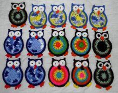 Hooty Owl Coasters ~ free pattern