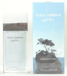 Dolce & Gabbana LIGHT BLUE DREAMING IN PORTOFINO For Women 3.3 Oz EDT SP by Dolce & Gabbana. $58.50. **No U.S. Sale Tax** 3.3 oz Eau De Toilette EDT Spray. New in Box. Light Blue Dreaming in Portofino by Dolce & Gabbana for women. Light Blue Dreaming in Portofino by Dolce & Gabbana for women An adventurous and fresh fragrance that's like a journey in the Mediterranean. Notes of ambrette seed, litchi, osmanthus, pink pepper, geranium, citrus accord, patchouli, cris...