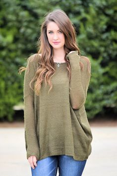 Fall Fashion, Fall Sweater, Piko Sweater, Olive Sweater, OOTD- Piko Sweater-Olive by Jane Divine Boutique http://ss1.us/a/EJjRhw3S