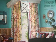 Curtains, Living Room, Home Decor, Blinds, Decoration Home, Room Decor, Home Living Room, Drawing Room, Draping