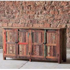 Aimee Large Reclaimed Wood Sideboard - Modish Living - colourful sideboard on sale now. Large Sideboard, Wood Sideboard, Dining Room Furniture, Dining Room Table, Wood Wine Racks, Leather Dining Chairs, Living Room Storage, Reclaimed Wood Furniture, Recycled Wood