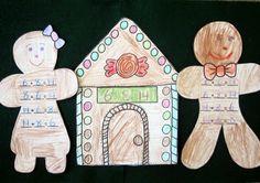 free gingerbread fact family craft idea