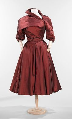 Date:      1950  Culture:      American    silk  #dress #romantic #feminine…