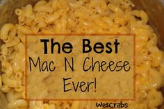 I seriously just made the best Mac and Cheese I have ever had. I first had this dish at my best friend's fourth of July pic-nick last year. I had scribbled down the recipe on an napkin before we left the party. I begged her for the secret. She laughed at me and told me... #crockpot #dinner #easy