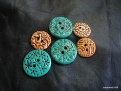 Clay buttons