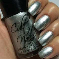 Cult Nails Passionate Dreams Collection:  ★ Lethal ★ silver foil polish
