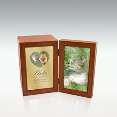 Small Paws On My Heart Cherry Photo Urn - Engravable Pet Cremation Urns, Small Hinges, Memorial Stones, Pet Memorials, Cherry, Make It Yourself, Pets, Frame, Picture Frame