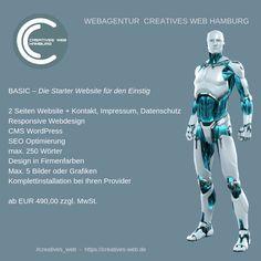 Die Starter Website zum Einstieg ins WWW Basic Website, Web Design, Memes, Creative, Movie Posters, Hamburg, Graphics, Design Web, Meme