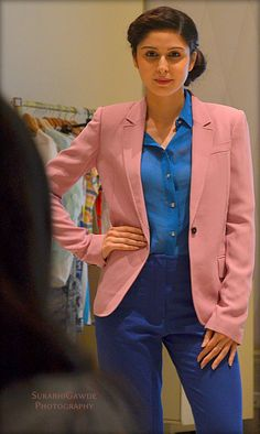 #VOGUE #AllenSolly #fashion Block colours for office wear in spring