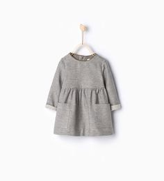 Dress with piped neckline-MUST HAVES-Baby girl | 3 months - 3 years-KIDS | ZARA United States
