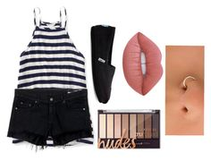"""""""Stripes"""" by calliefashion11 on Polyvore featuring Aéropostale, rag & bone/JEAN, TOMS and Lime Crime"""