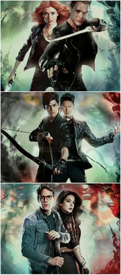 #shadowhunters the show itself needs some work but there is no denying the cast is on point!! Big fan of the books. Love Simon & Malec