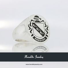 Harding coat of arms ring