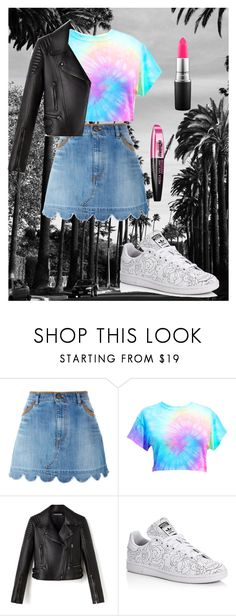 """Untitled #48"" by marbrown ❤ liked on Polyvore featuring RED Valentino, adidas, L'Oréal Paris and MAC Cosmetics"