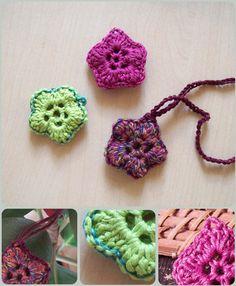 crochet flowers - in french