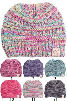 e1575078848 Kids Multi Color Knit Beanie Hat by CC Cc Hats